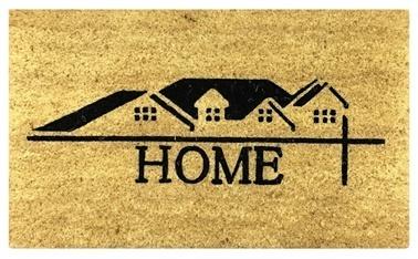 Giz Home 45X75 Krem Home Evler Koko Dış Kapı Önü Paspası Renkli